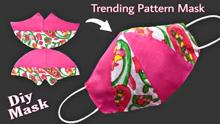 Very Easy New Trending Pattern Cute Mask Face Mask Sewing Tutorial Diy Cloth Face Mask