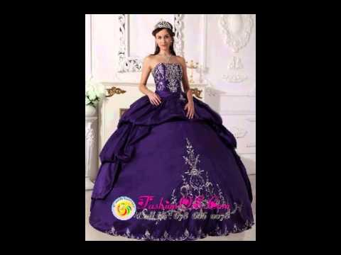 b9890af6fd6 Elegant Purple Quinceanera Dress Strapless Taffeta Embroidery Ball Gown
