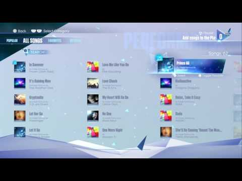 Just Sing: All Songs List (PS4/1080p)