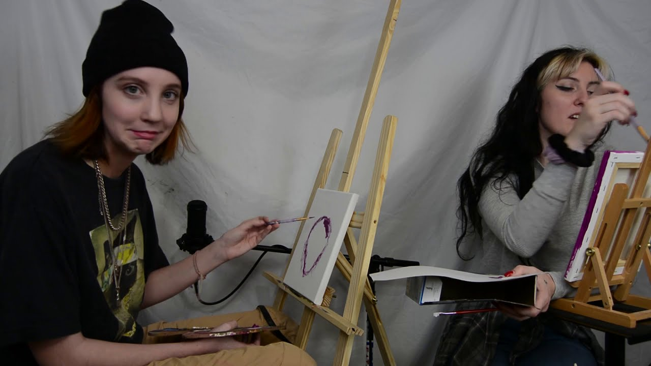 Megan and Lucy Paint and Sing Hannah Montana | Deadgirl's Paint Club #3