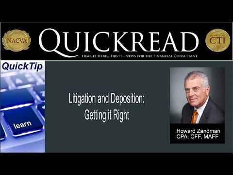 Quicktip: Litigation and Deposition: Getting it Right