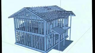 3D модель каркасного дома
