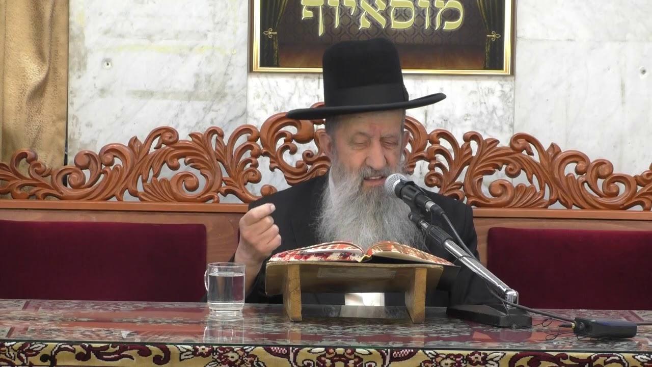 """הרה""""ג הרב בן ציון מוצפי שליט""""א - דיני ויעבור בתפילה - שלח לך תשע""""ט"""