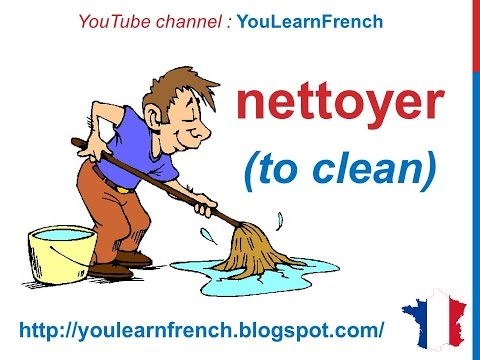 French Lesson 91 - Household chores House cleaning Les tâches ménagères Tareas de la casa Quehaceres