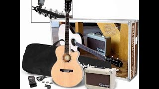 Unpacking Epiphone PR-4E Electro - Acoustic Guitar Player Pack - Christmas Surprise 2016