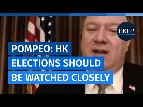 US Sec. of State Pompeo: Hong Kong elections should be watched closely