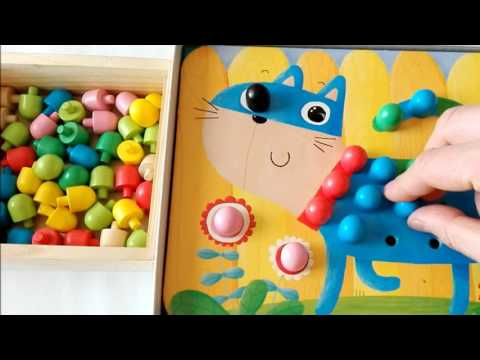 Learn colors with animals mosaic: cat puzzle game for kids |