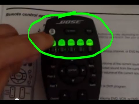 bose cinemate gs series ii universal remote control manual