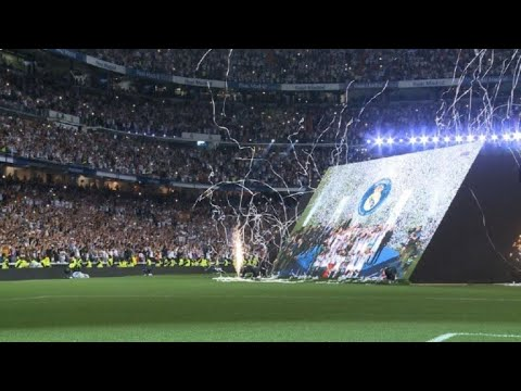 Champions League: Real fans cheer in Bernabeu