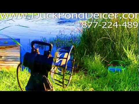 Duck Pond Deicer - keeps pond water from freezing