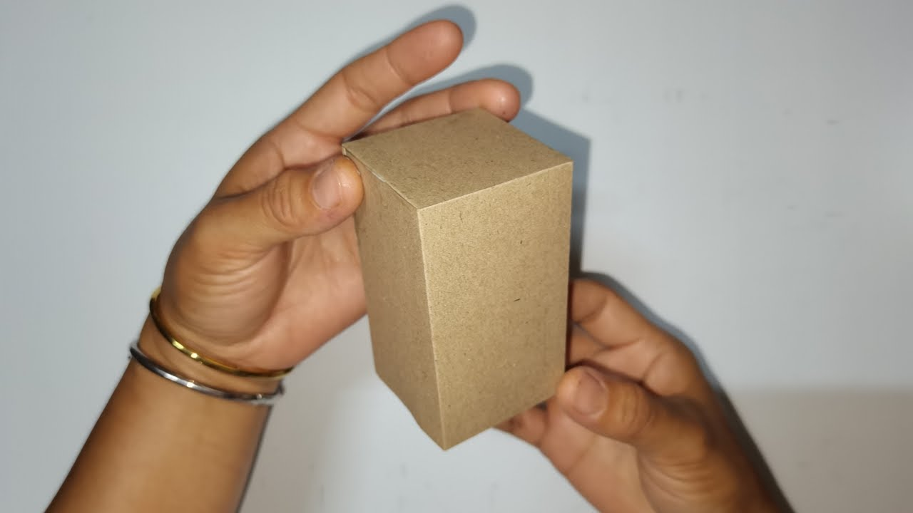 How to make a Cuboid/วิธีทำรูปทรงสี่เหลี่ยม/Box/ครูหญิง/handmake paper craft easy/paper tutorial