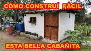 CABAÑA DE BAJO IMPACTO, CONSTRUCCIÓN FÁCIL, DE PROCESO COMPLETO, MIRA QUÉ RESULTADO