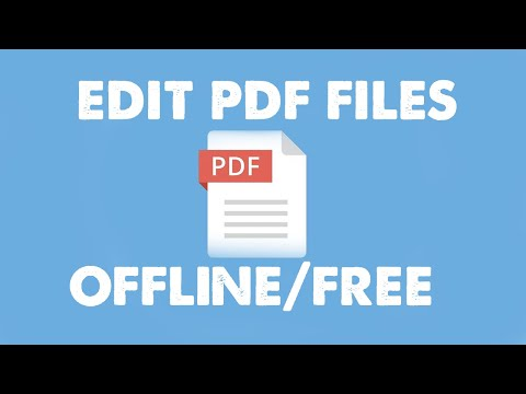 i want to edit pdf file