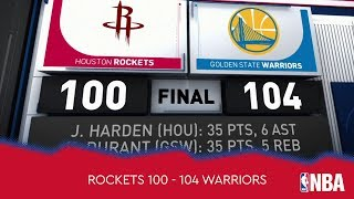 Houston Rockets 100 - 104 Golden State Warriors
