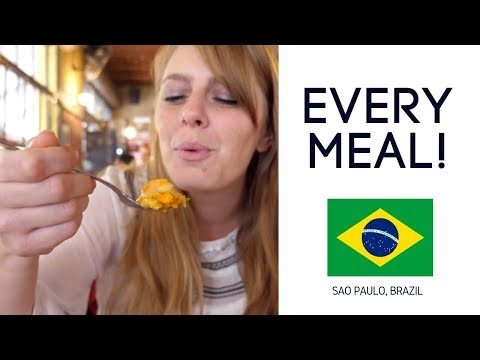 Eating Brazilian Food Breakfast Lunch & Dinner