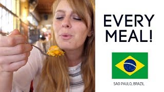 Eating Brazilian Food Breakfast, Lunch & Dinner