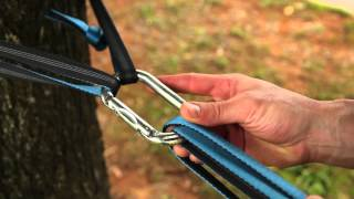 How to set up a slackline using 3 carabiners