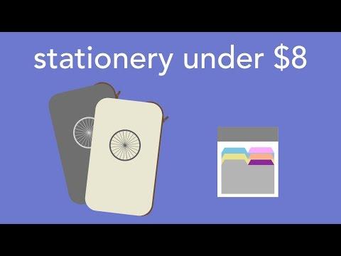 stationery under $8