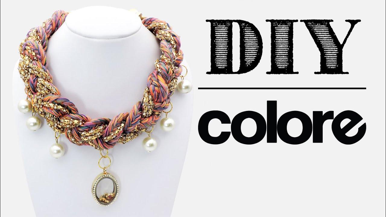 0ad81cfcb0f1 DIY Collar Hilo Trenzado y Relicario
