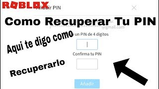 Como recuperar o seu PIN Roblox Ricardo 120YT