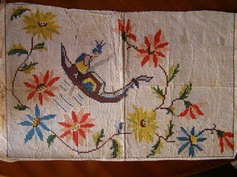 Σπάνιο σχέδιο για κέντημα (ετος 1951) γόνδολα - Rare pattern for embroidery (Year 1951) gondola