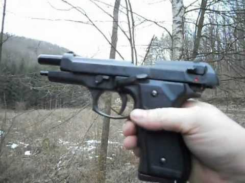 TEST PISTOLET A BLANC BRUNI 92F 9MM P.A.K