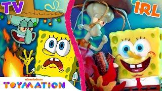 The Sea Bear Attacks Squidward, SpongeBob & Patrick IRL! | SpongeBob Toys | Toymation