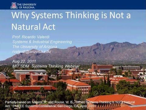 Why Systems Thinking is Not a Natural Act