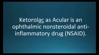 How to pronounce ketorolac (Acular) (Memorizing Pharmacology Video Flashcard)