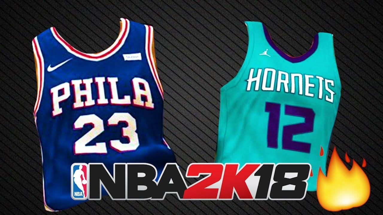 fd58a8995 Top 10 Best New Jerseys in NBA 2K18 - YouTube