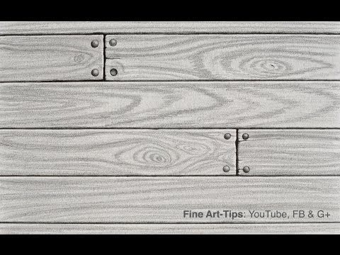 How to Draw Realistic Wood With Pencil