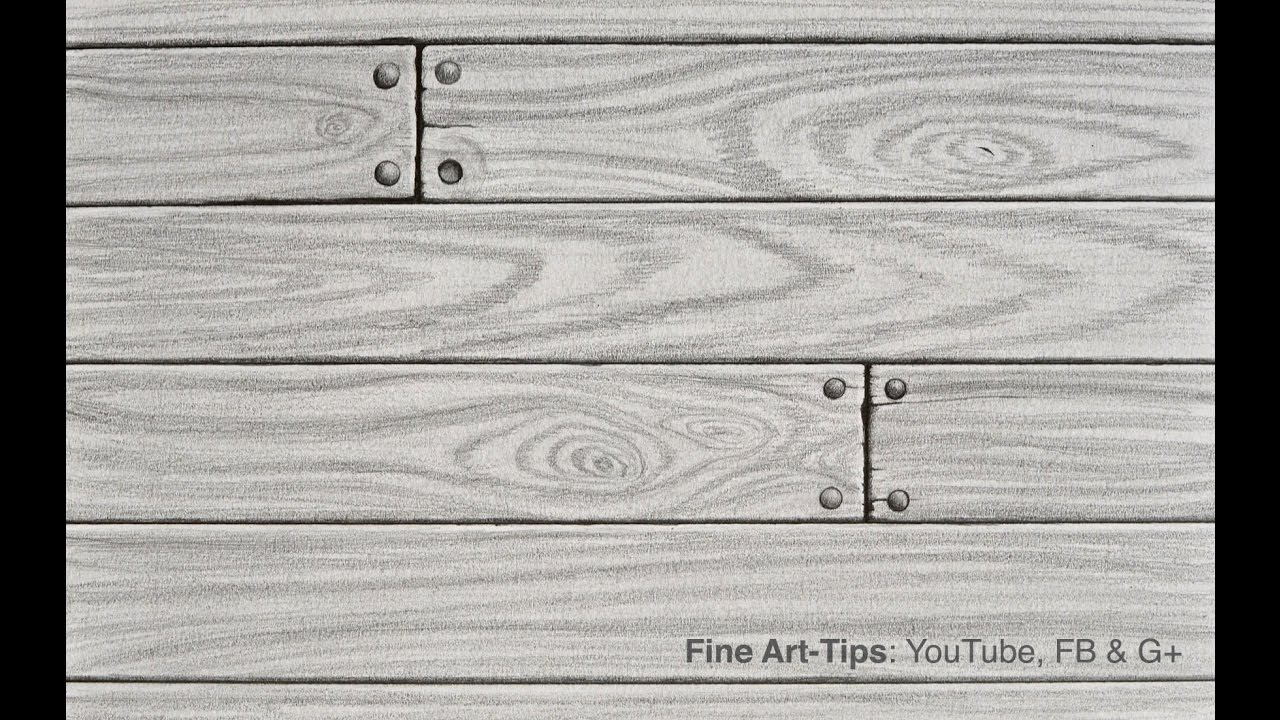 How to Draw Realistic Wood With Pencil - YouTube
