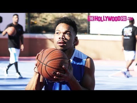 Chance The Rapper Plays In The Chacha The Wave Vs. Jamie Foxx Celebrity Basketball Game