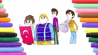 Rafadan Tayfa Coloring Page for Kids, Coloring Book