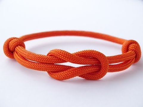 How To Make A Simple Reef (Square) Knot Paracord Friendship Bracelet - Como Hacer Pulsera