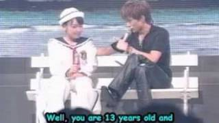 """Gackt is like on a """"date"""" lol on a talk show, with the Morning Musu..."""