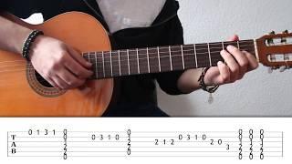 Malagueña Falseta I. Como combinar punteo con acordes en guitarra. Curso de Punteo 28