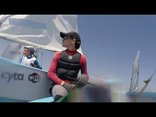Opti Pre Worlds Start - On board with Fletcher