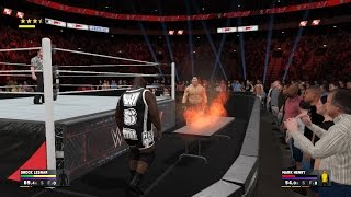 WWE 2K17 - How To Set A Table On Fire [PS4 & Xbox One]