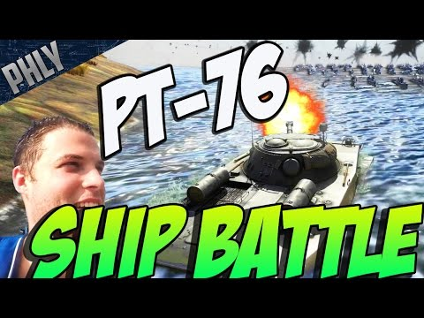 PT-76 SHIP BATTLE! War Thunder SHIP HYPE! ( War Thunder Tank Gameplay)