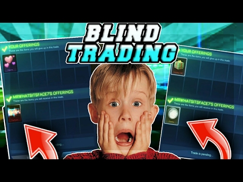 """""""OMG"""" BLIND TRADING WHITE ZOMBAS AND WHITE TACYON ON ROCKET LEAGUE!!"""