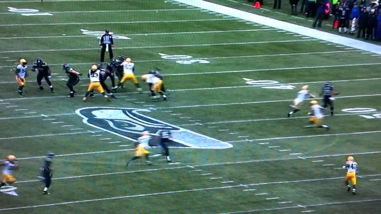 Morgan Burnett Slides after Interception despite having 25 yards