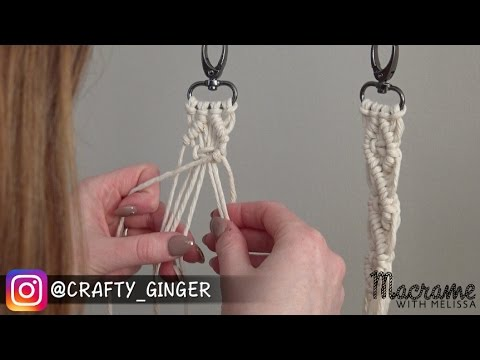 1 of 4 diy macrame tutorial macra mini key chain for. Black Bedroom Furniture Sets. Home Design Ideas