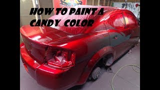 HOW TO DO A CANDY PAINT JOB