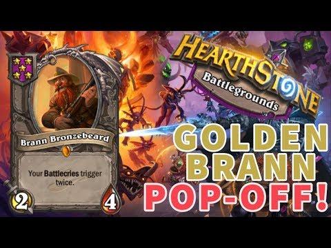 GOLDEN BRANN POP-OFF!   Hearthstone Battlegrounds