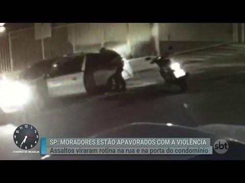 Motoqueiros armados deixam moradores de Osasco em pânico | Primeiro Impacto (24/08/18)
