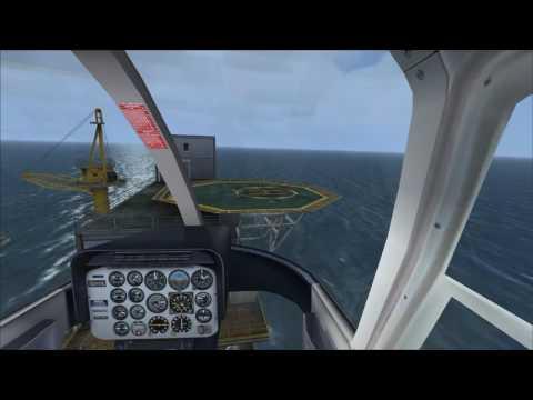 FSX Mission Oil Rig Transport 海上オイルリグ危機一発