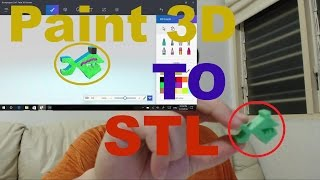 export paint 3d object to stl for 3d printing