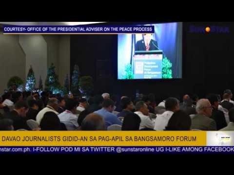 Davao journalists gidid-an sa pag-apil sa Bangsamoro forum