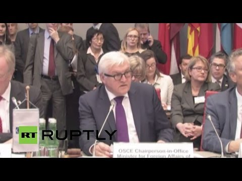 LIVE: German FM Steinmeier to give press conference following OSCE 2016 programme announcement